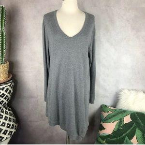 LOGO Cotton Cashmere Asymmetrical Hem Sweater